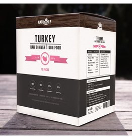 Dog & cat NatuRAWls Frz Raw Turkey w Veggies Dog 12 x 227g