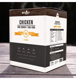 Dog & cat NatuRAWls Frz Raw Chicken w Veggies Dog 12 x 227g