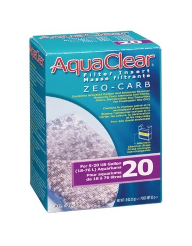 Aquaria (W) AquaClear 20 Zeo-Carb Filter Insert, 55 g (1.9 oz)