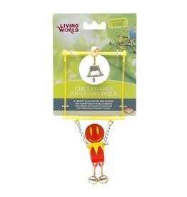 Bird (W) Living World Circus Toy - Trapeze - Red