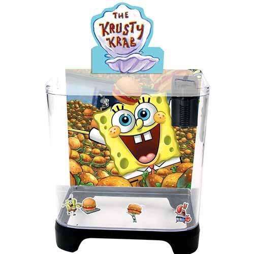 Aquaria (W) Penn Plax Spongebob 1.5 Gal Aquarium Kit with Filter