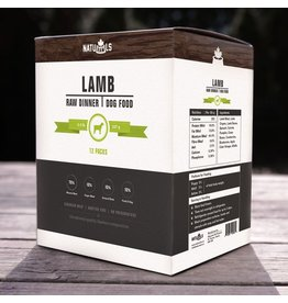 Dog & cat NatuRAWls Frz Raw Lamb w Veggies Dog 12 x 227g
