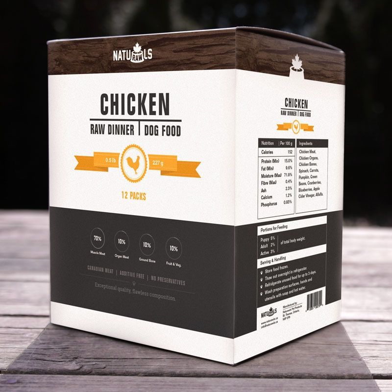 Dog & cat NatuRAWls Frz Raw Chicken & Trout Cat 24 x 113g