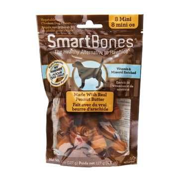 Dog & cat (W) SmartBones - Peanut Butter - Mini - 8pk