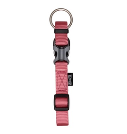 Dog & cat Zeus Adjustable Nylon Dog Collar - Salmon - Medium - 1.5 cm x 28 cm-40 cm (1/2in x 11in-16in)