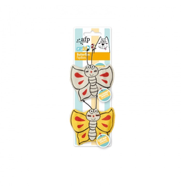 Dog & cat AFP Catoon Butterflies 2pk