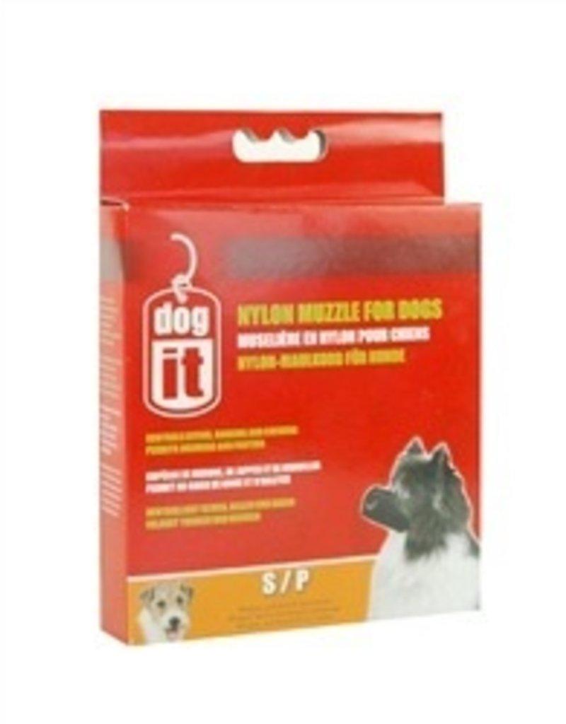 Dog & cat BLACK NYLON DOG MUZZLE SM