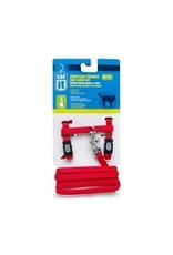 Dog & cat CA Aj. Harness and Leash Set, Red, M-V
