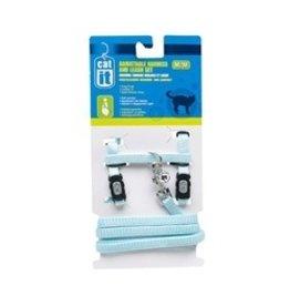 Dog & cat (W) CA Aj. Harness and Leash Set, Blue, M-V