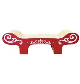 Dog & cat (W) CA Style Scratcher with Catnip, Bench-V