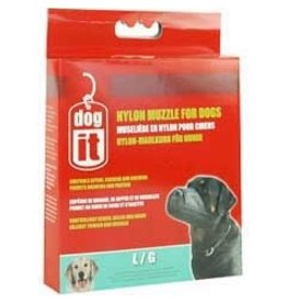 Dog & cat (W) Dogit Nylon Dog Muzzle, Black, Large,18.5 cm/7.3""