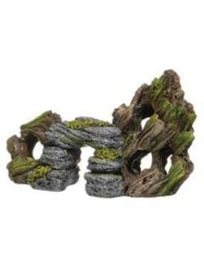 Aquaria (W) Marina Decor Rock and Bark, Small-V