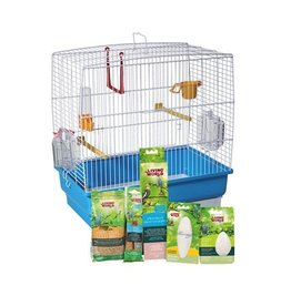 "Bird (W) Living World Budgie Starter Kit - 40 cm L x 25 cm W x 41 cm H (15.75"" x 9.8"" x 16"")"