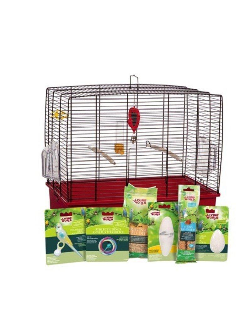 "Bird Living World Deluxe Budgie Starter Kit - 50 cm L x 30 cm W x 48 cm H (19.7"" x 11.8"" x 18.9"")"