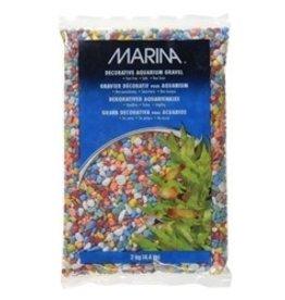 Aquaria Marina Decorative Gravel, Rainbow 2kg-V