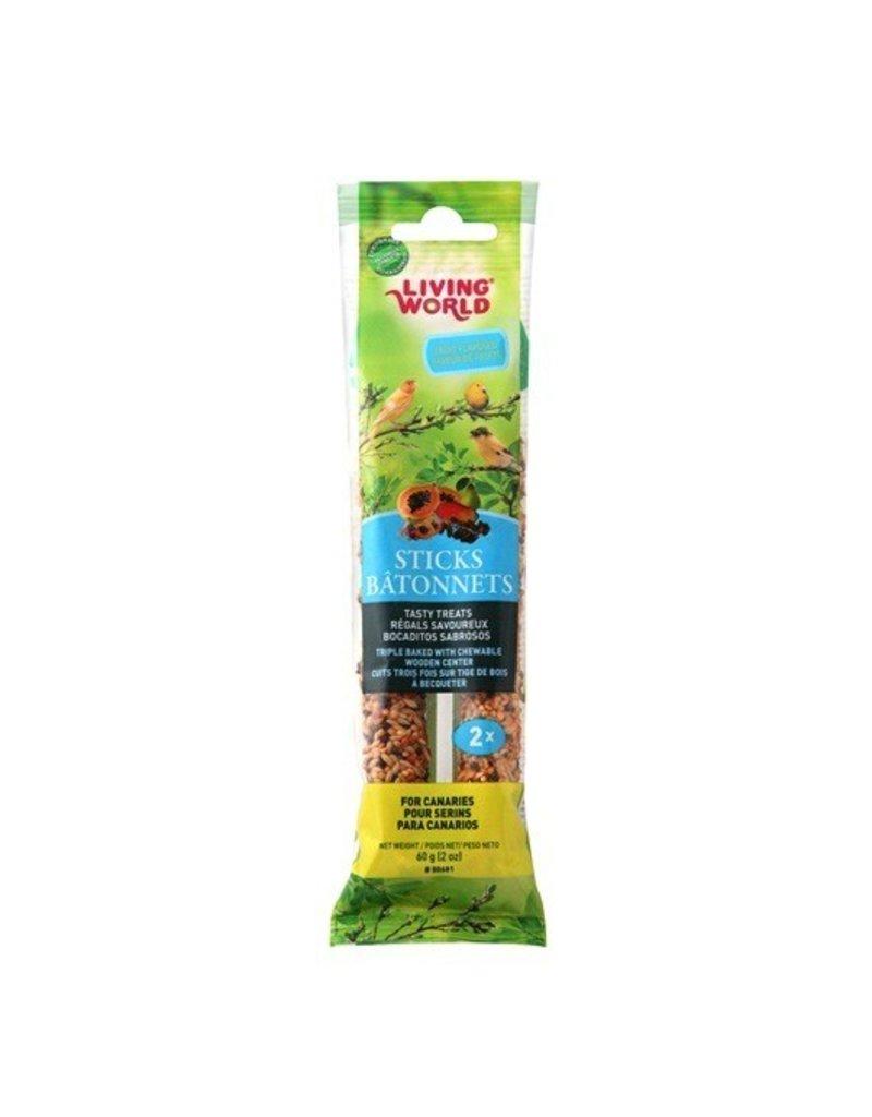 Bird Living World Canary Sticks - Fruit Flavour - 60 g (2 oz), 2-pack