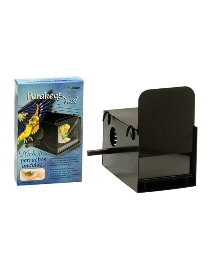 "Bird Hagen Parakeet Nest Box - Black - 22 x 13.2 x 13.2 cm (8 5/8"" x 5 1/4"" x 5 1/4"")"