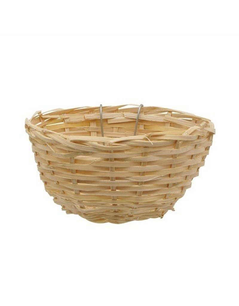 "Bird Living World Bamboo Bird Nest for Canaries - 11 cm x 5.5 cm (4.3"" x 2.2"" in)"