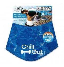 Dog & cat (W) CHILL OUT ICE BANDANA LG