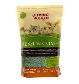 Small Animal (W) Living World Fresh 'N Comfy Bedding - 20 L (1220 cu in) - Green
