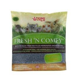 Small Animal Living World Fresh 'N Comfy Bedding - 50 L (3050 cu in) - Blue