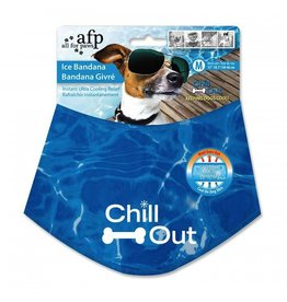 Dog & cat (W) CHILL OUT ICE BANDANA MED