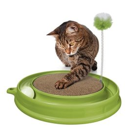 Dog & cat (D) Catit Play n Scratch Toy, Green