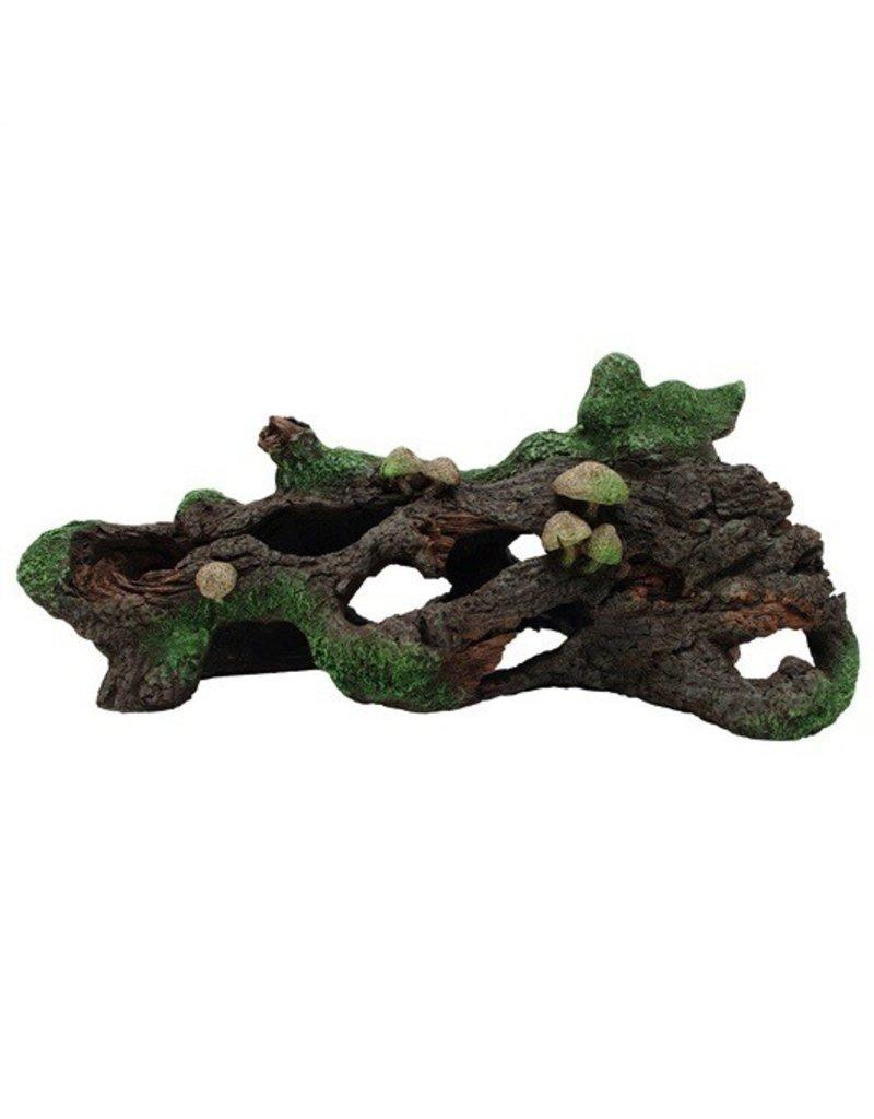 Aquaria (D) MA Hollow Log w/Moss Cover & Mshroom-V