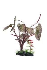Aquaria (D) FL Lge Red Lotus, 25cm (10in) w/Base