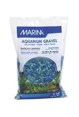 Aquaria MA Dec.Aqua.Gravel Tri Color Blue-2kg-V