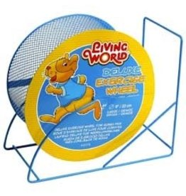 Small Animal (W) LW Wire-Mesh Hamster Wheel 9. blue-V