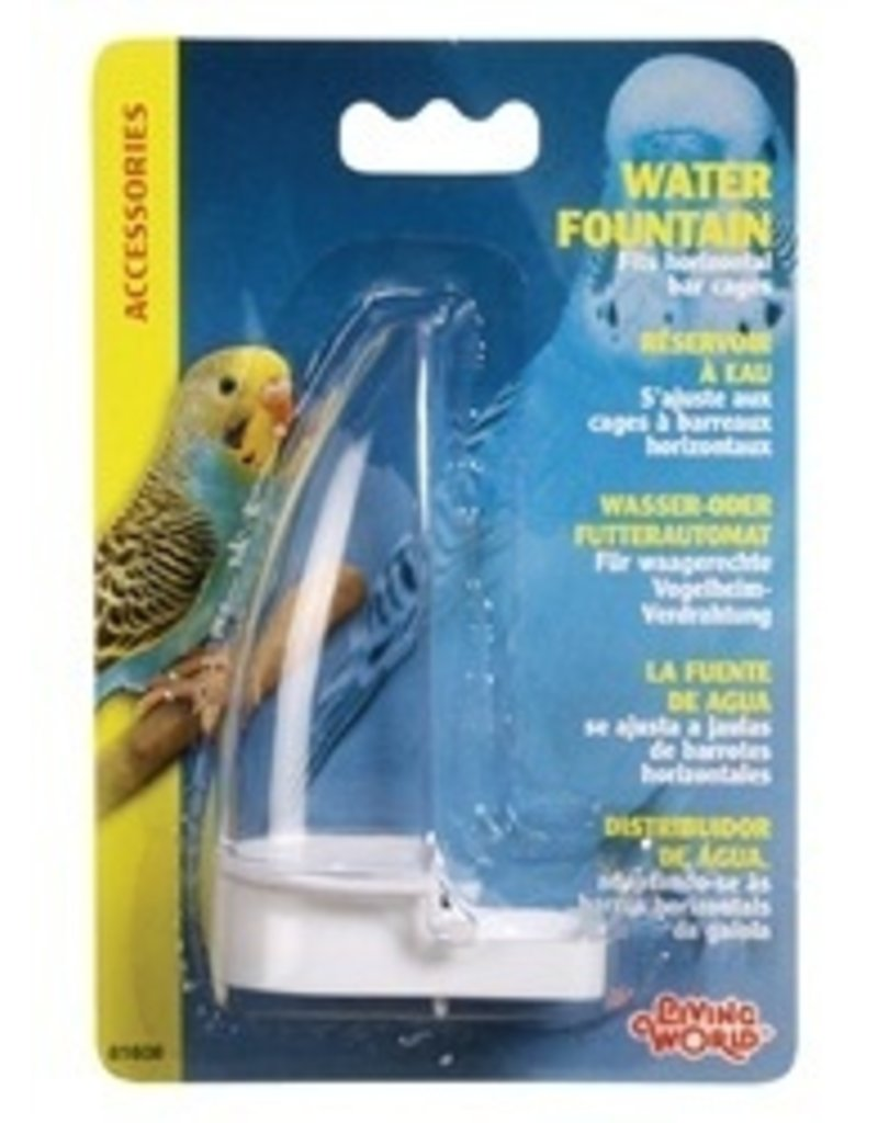 Bird LW Water Fountain f/all Hori.Wire Cage-V