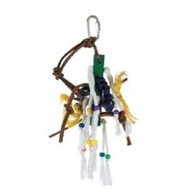 Bird Junglewood Wood Peg W/Ropes-V