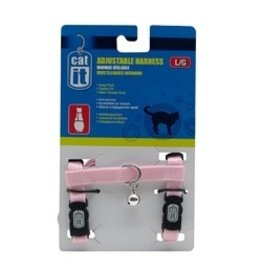 Dog & cat CA Adjustable. Harness, Pink, L-V