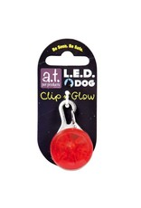 Dog & cat AT LED DOG TAG RED