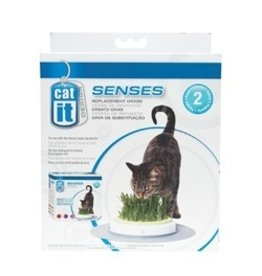 Dog & cat (W) CA Des. Senses Grass Garden Refill,2pk