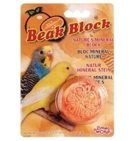 Bird LW Mineral Block- Orange