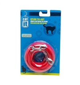 Dog & cat (W) CA Nyl. Tie-out, 6m (20 ft),Red-V