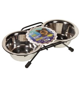 Dog & cat (W) Dogit SS Puppy Double Diner Mini-V