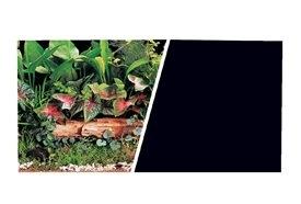 "Aquaria MA DOUBLE SIDED 18"" BACKGROUND BLACK/PLANTS.....(2.99/FT)"