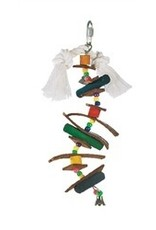 Bird Junglewood Skewer W/Wood Pegs-V