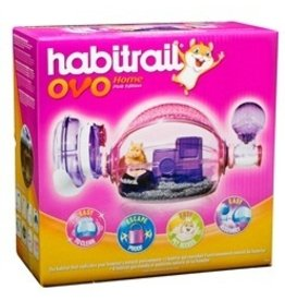 Small Animal Habitrail Ovo Home- Pink - Edition-V