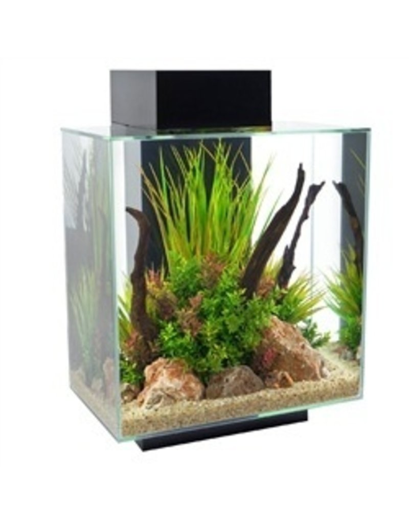 Aquaria (W) FL Edge SET 46L(12 US gal)LED-GlossBlack
