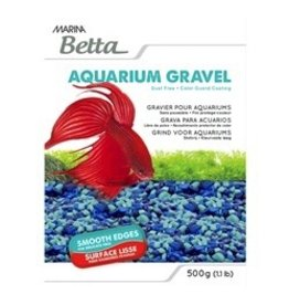 Aquaria Marina Betta Gravel - Tri-color Blue - 500 g