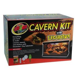 Reptiles ZM Cavern Kit with Excavator Clay Burrowing Substrate