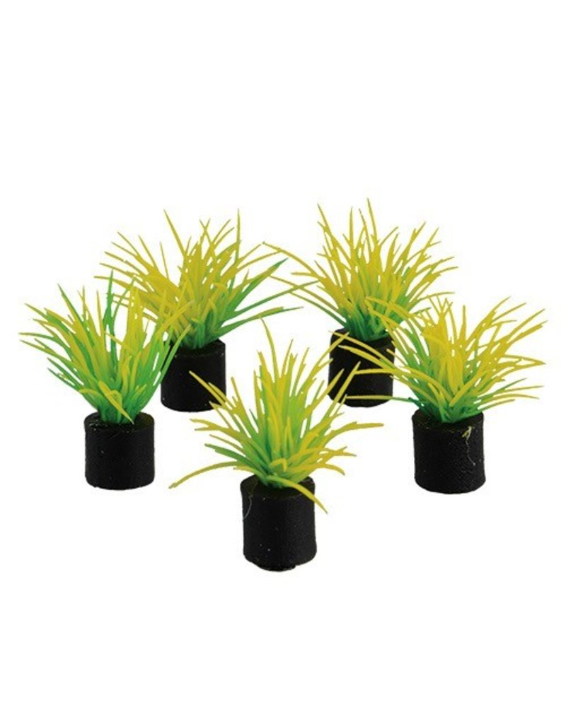 "Aquaria Mini Plant - Spring Grass green - 1.25"" - 5 pk"