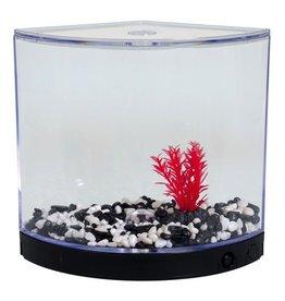 Aquaria BettaArc LED Betta Kit - Black - 1.2 L