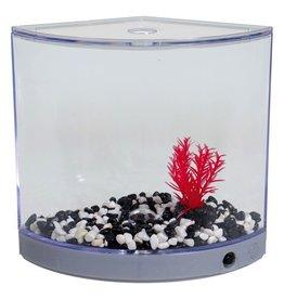 Aquaria (D) BettaArc LED Betta Kit - Silver - 1.2 L
