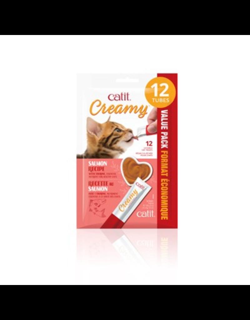 Dog & cat Catit Creamy Lickable Cat Treat - Salmon Flavour - 12 pack