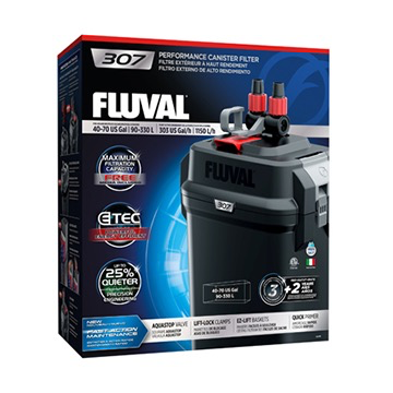 Aquaria (W) Fluval 307 Performance Canister Filter, up to 330 L (70 US gal)